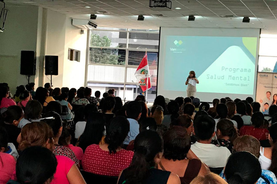Charla informativa Programa Sentirnos Bien dirigido a padres de la IEE N