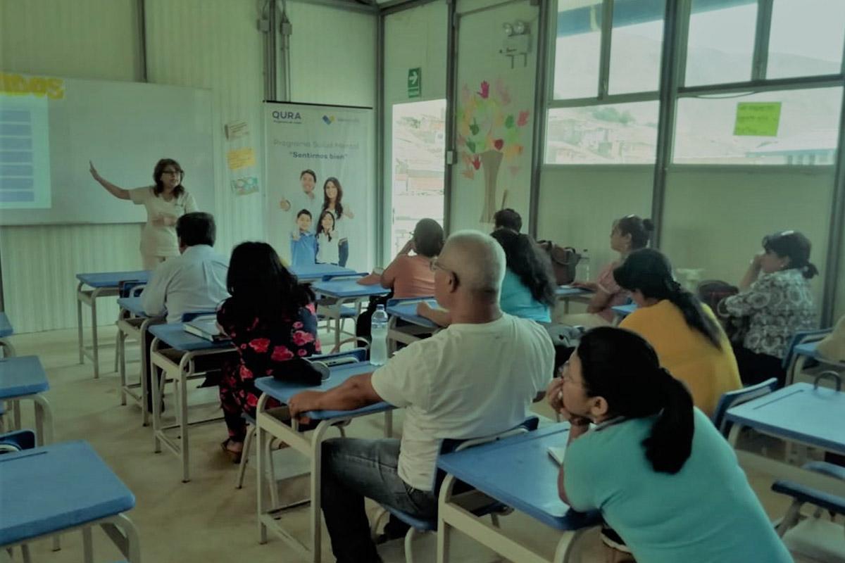 Qura Capacitacion dirigida a docentes de IEE Virgen de Fatima