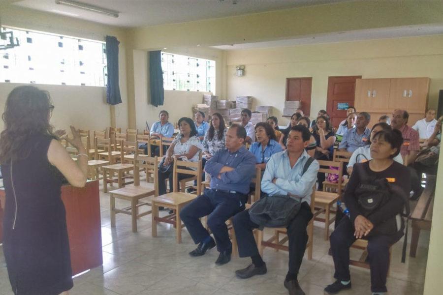 Qura Capacitacion dirigida a docentes de IEE sagrado corazon